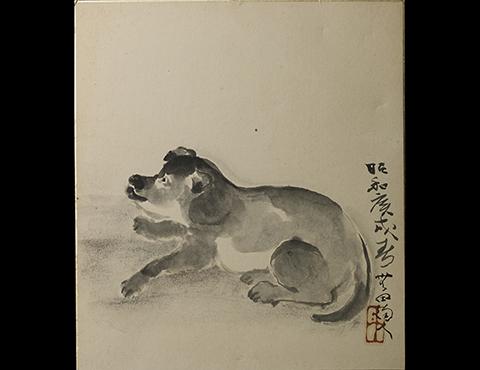 色紙「犬」