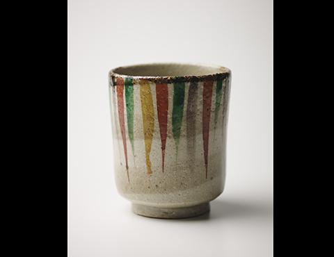 赤工筒茶碗