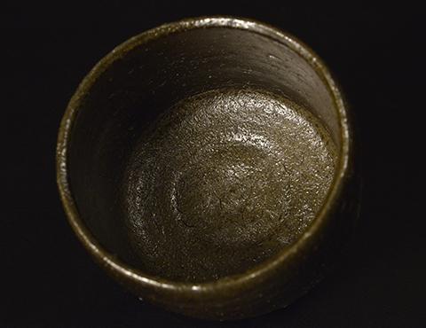 伊部黒茶碗