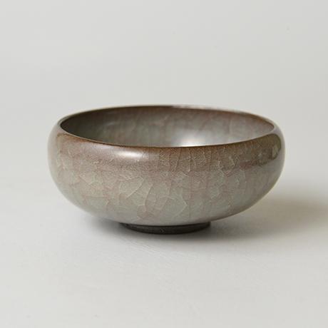 窯変米色瓷ぐい呑