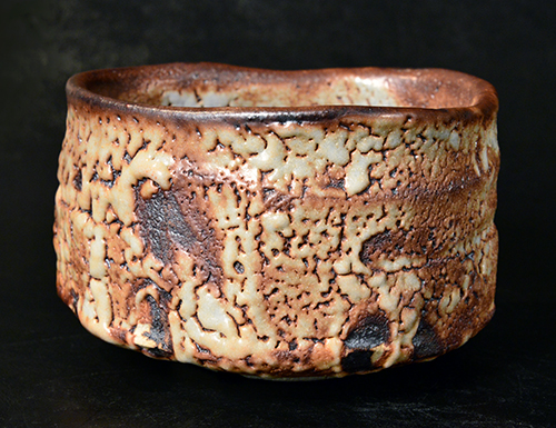 紅志野茶碗
