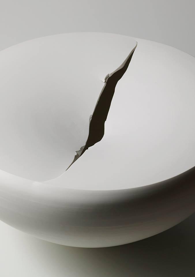 白磁割台皿