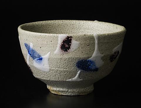 塩釉色差茶碗