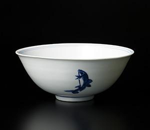 そめつけ花ト魚鉢