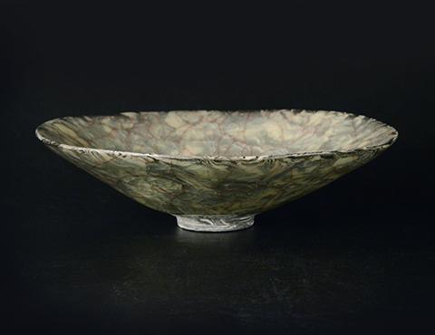 練込青瓷茶碗