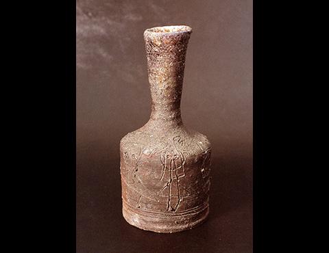 童子図信楽花瓶