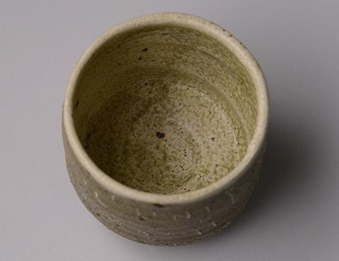 彫三島茶盌