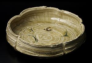 黄瀬戸平鉢