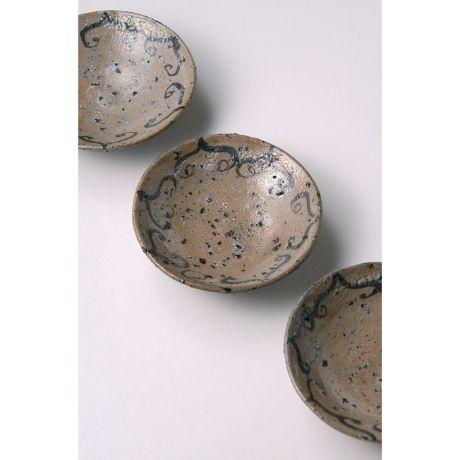 「No.111 絵唐津銘々皿揃 五客  / A set of 5 plates, E-Karatsu」の写真 その1