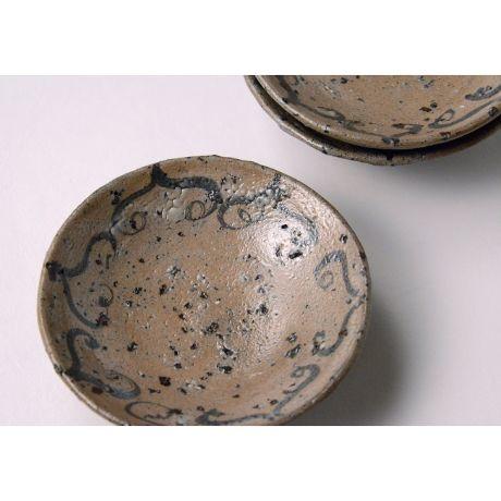「No.111 絵唐津銘々皿揃 五客  / A set of 5 plates, E-Karatsu」の写真 その2
