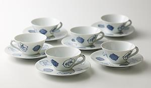 染附紅茶碗 六