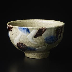 塩釉三彩茶碗