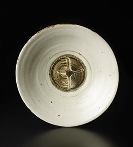 鉄絵飛鳥紋鉢