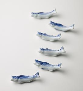 そめつけ 魚形箸枕 六