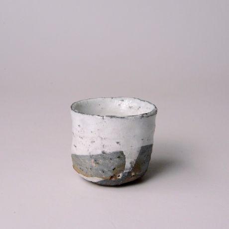「No.71 粉引唐津ぐい呑 / Sake cup, Kohiki-karatsu」の写真 その1