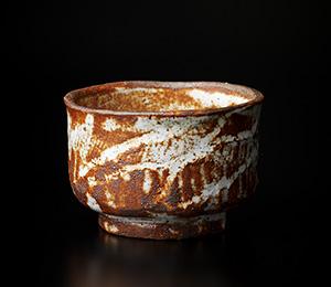 赤志野半筒形茶碗