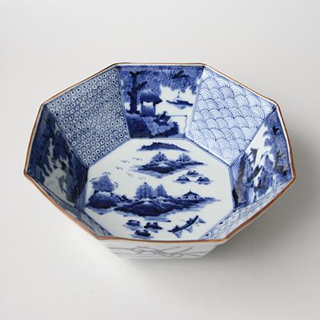 「No.1 祥瑞山水図八角中鉢 / Bowl, Sometsuke」の写真 その1
