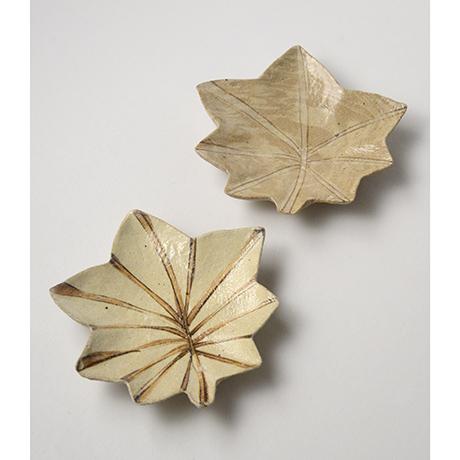 「No.11 絵織部紅葉向付揃 五 / A set of 5 dishes, E-oribe, Maple shaped」の写真 その2