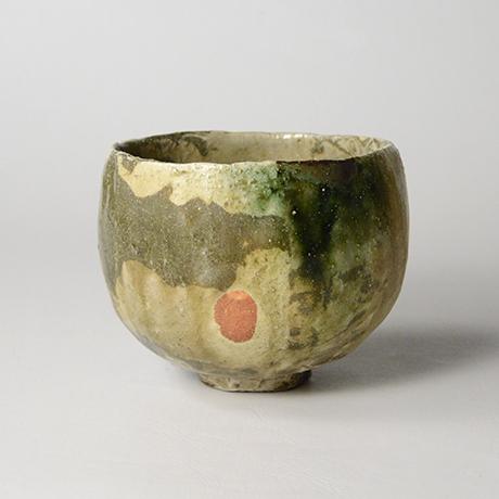 「No.17 黄瀬戸織部茶碗 / Tea bowl, Kiseto-oribe」の写真 その1