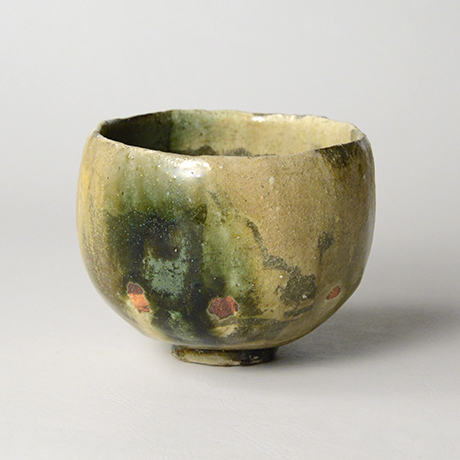 「No.17 黄瀬戸織部茶碗 / Tea bowl, Kiseto-oribe」の写真 その4