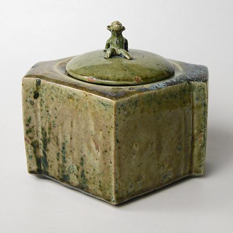 「No.22 織部窯変水指 / Water jar, Oribe-yohen」の写真 その1