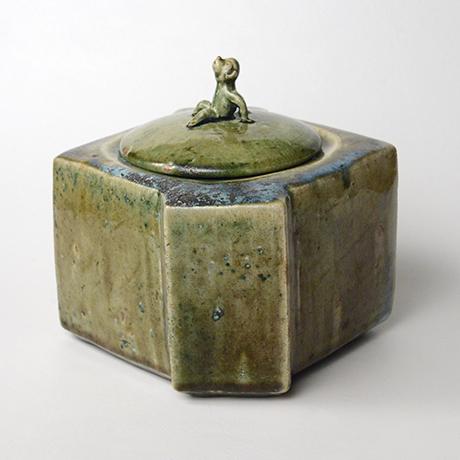 「No.22 織部窯変水指 / Water jar, Oribe-yohen」の写真 その2
