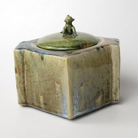 「No.22 織部窯変水指 / Water jar, Oribe-yohen」の写真 その3