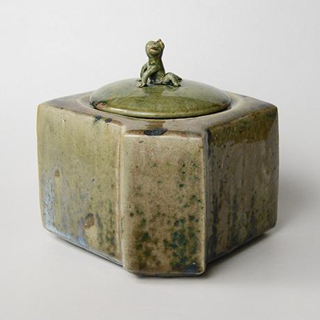 「No.22 織部窯変水指 / Water jar, Oribe-yohen」の写真 その4