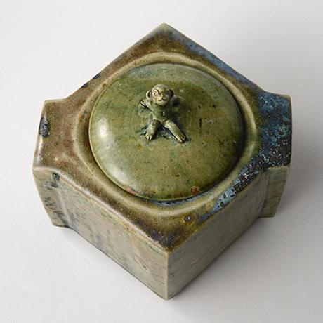 「No.22 織部窯変水指 / Water jar, Oribe-yohen」の写真 その5
