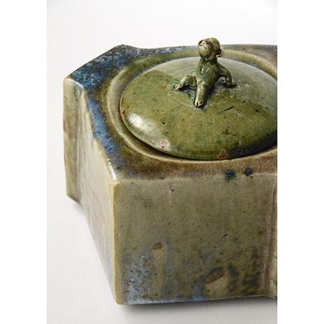 「No.22 織部窯変水指 / Water jar, Oribe-yohen」の写真 その9