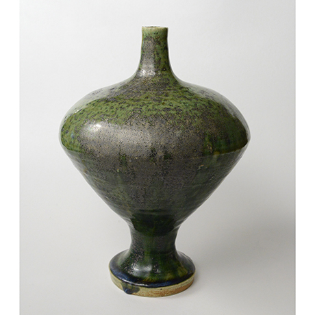 「No.30 織部瓶子 / Vessel, Oribe, Heishi shaped」の写真 その1