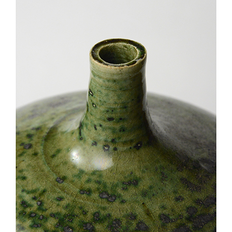 「No.30 織部瓶子 / Vessel, Oribe, Heishi shaped」の写真 その3
