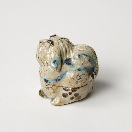「No.35 弥七田織部獅子香合 / Incense container, Yashichida-oribe, Lion shaped」の写真 その2