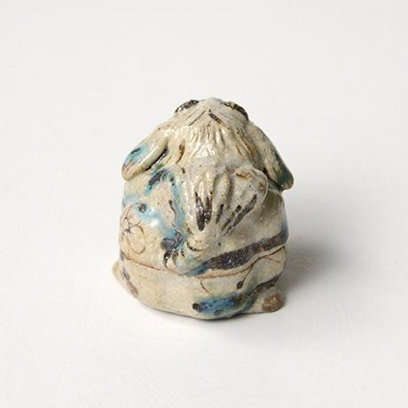 「No.35 弥七田織部獅子香合 / Incense container, Yashichida-oribe, Lion shaped」の写真 その3