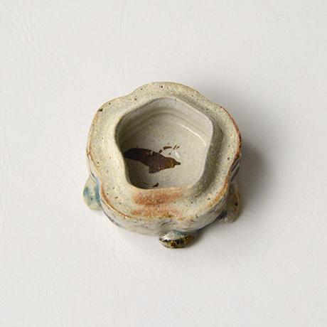 「No.35 弥七田織部獅子香合 / Incense container, Yashichida-oribe, Lion shaped」の写真 その6