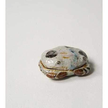 「No.37 弥七田織部蟹香合 / Incense container, Yashichida-oribe, Crab shaped」の写真 その7