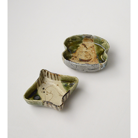 「No.47 織部小向付揃 六 / A set of 6 small dishes, Oribe」の写真 その2