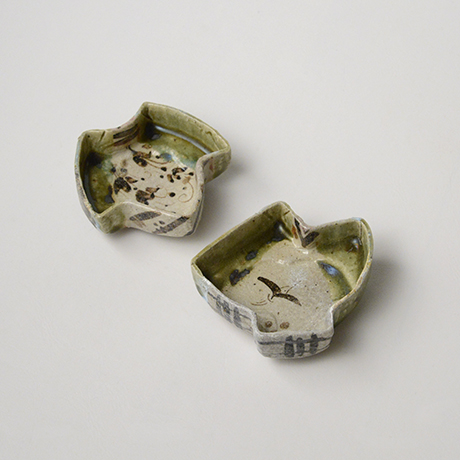 「No.47 織部小向付揃 六 / A set of 6 small dishes, Oribe」の写真 その3
