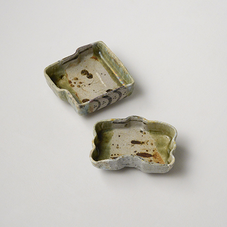 「No.47 織部小向付揃 六 / A set of 6 small dishes, Oribe」の写真 その4