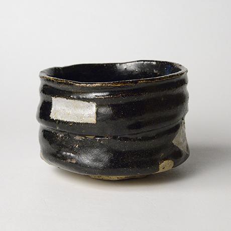 「No.52 黒織部筒茶碗 / Tea bowl, Kuro-oribe, Cylindrical」の写真 その2