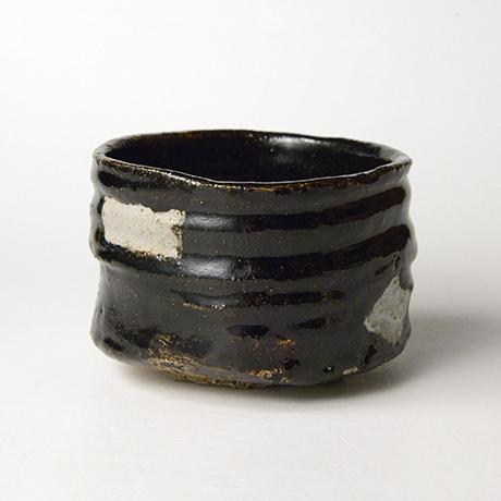 「No.52 黒織部筒茶碗 / Tea bowl, Kuro-oribe, Cylindrical」の写真 その4