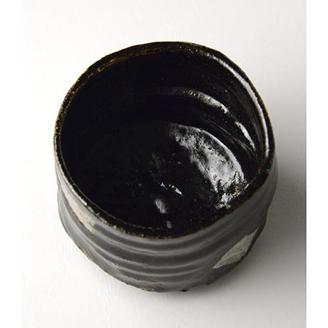 「No.52 黒織部筒茶碗 / Tea bowl, Kuro-oribe, Cylindrical」の写真 その5