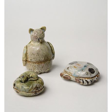 「No.37 弥七田織部蟹香合 / Incense container, Yashichida-oribe, Crab shaped」の写真 その8