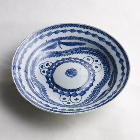 「No.43 古染付藻文平鉢 / Flat bowl, Underglazed blue」の写真 その1