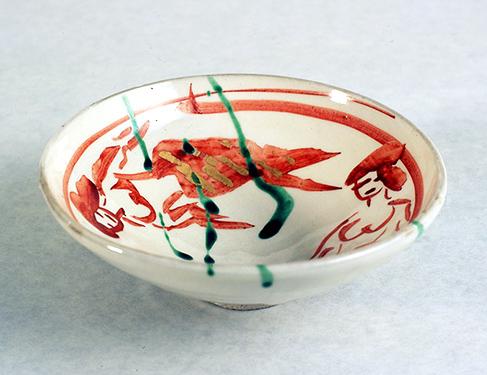 赤絵双魚茶碗