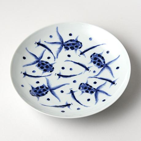 「No.11 金魚文八寸皿 / Dish with Goldfish design, Sometsuke」の写真 その1