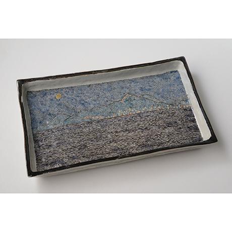 "「No.12 色絵長方皿「函館山を望む図」 Square dish, Iro-e,  ""View of Mt. Hakodate""」の写真 その1"