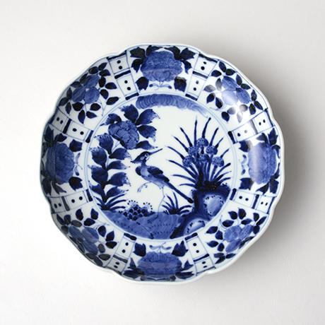 「No.14 芙蓉手花鳥文輪花七寸皿 / Dish with flower and bird design, Sometsuke」の写真 その1