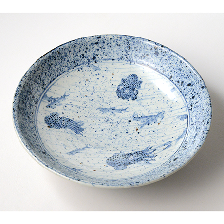 「No.14 染付みみいか大鉢 Bowl, Sometsuke」の写真 その2