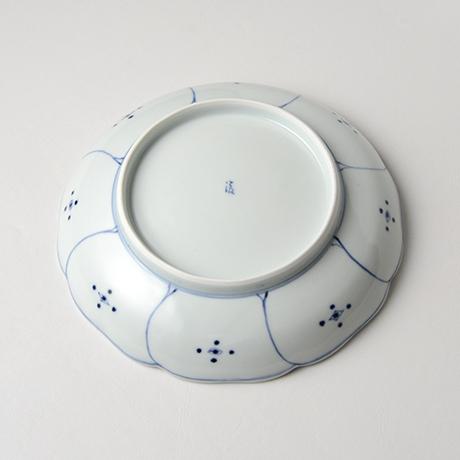 「No.14 芙蓉手花鳥文輪花七寸皿 / Dish with flower and bird design, Sometsuke」の写真 その2